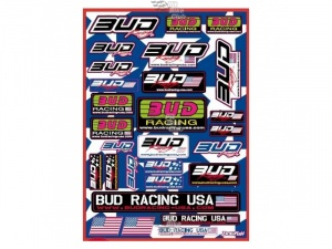 Наклейки BUD Racing USA