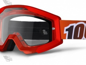 Очки 100% Strata Fire Red / Clear Lens (50400-003-02)