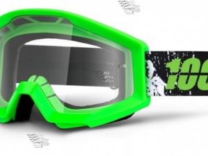Очки 100% Strata Moto Crafty Lime / Clear Lens (50400-078-02)