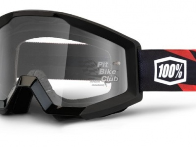 Очки 100% Strata Moto Slash / Clear Lens (50400-076-02)