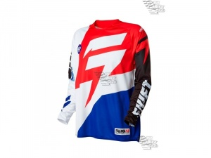 Мотоджерси Shift Faction Jersey White/Red L (14531-077-L)