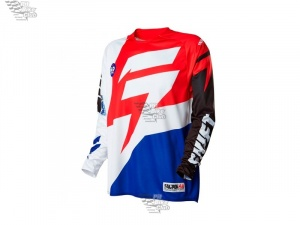 Мотоджерси Shift Faction Jersey White/Red M (14531-077-M)
