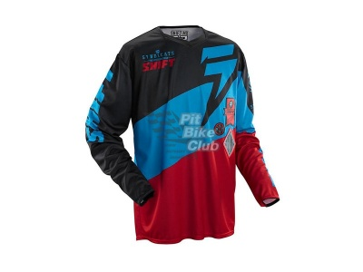 Мотоджерси Shift Faction Slate Jersey Red/Black L (07240-055-L)