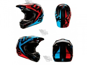 Мотошлем Fox V1 Race Helmet Blue/Red M (11042-149-M)