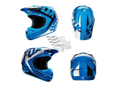 Мотошлем Fox V1 Race Helmet Blue M (11042-002-M)