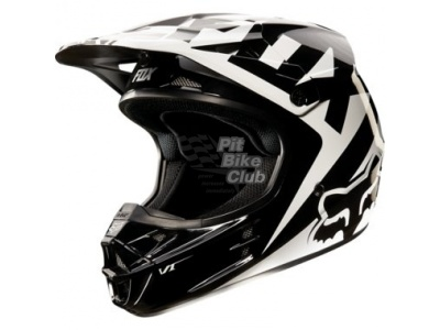 Мотошлем Fox V1 Race Helmet Black M (11042-001-M)