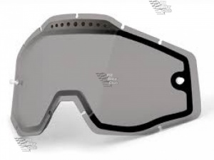 Линза 100% Racecraft/Accuri/Strata Vented Dual Pane Lens Anti-Fog Smoke (51006-007-02)