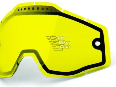 Линза 100% Racecraft/Accuri/Strata Vented Dual Pane Lens Anti-Fog Yellow (51006-004-02)