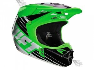 Мотошлем Shift V1 Assault Race Helmet Green M (16109-004-M)