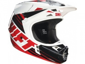 Мотошлем Shift V1 Assault Race Helmet Black/White M (16109-018-M)