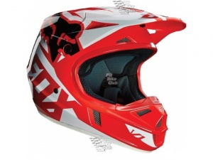 Мотошлем Fox V1 Race Helmet Red XL (14401-003-XL)