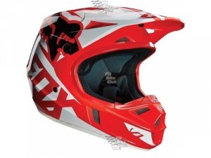 Мотошлем Fox V1 Race Helmet Red L (14401-003-L)