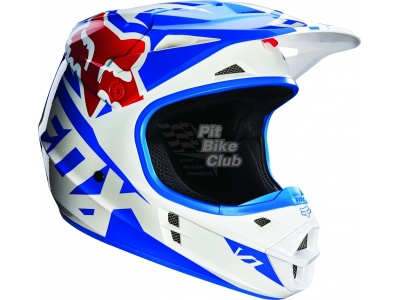 Мотошлем Fox V1 Race Helmet Blue S (14401-002-S)