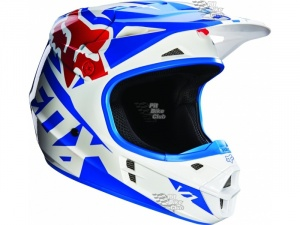 Мотошлем Fox V1 Race Helmet Blue L (14401-002-L)