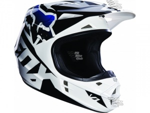 Мотошлем Fox V1 Race Helmet Black S (14401-001-S)