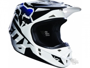 Мотошлем Fox V1 Race Helmet Black L (14401-001-L)