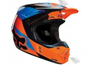 Мотошлем Fox V1 Mako Helmet Orange M (14407-009-M)