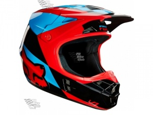 Мотошлем Fox V1 Mako Helmet Blue/Red M (16003-149-M)