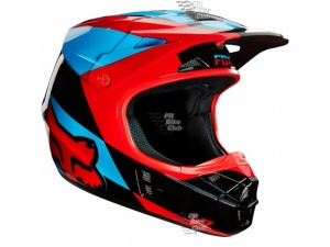 Мотошлем Fox V1 Mako Helmet Blue/Red L (16003-149-L)