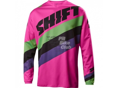 Мотоджерси Shift White Tarmac Jersey Black/Pink L (17213-285-L)