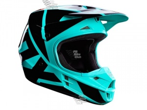 Мотошлем Fox V1 Race Helmet Green XL (17344-004-XL)