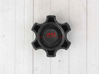 Крышка бензобака пластиковая черная фото 7