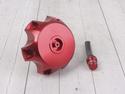 Крышка топливного бака алюминиевая d-48,5 мм красная фото 1