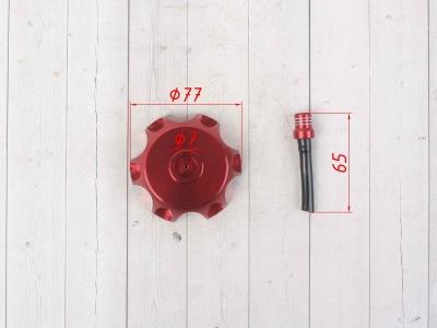 Крышка топливного бака алюминиевая d-48,5 мм красная фото 3