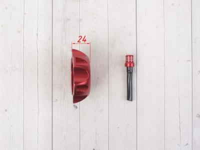 Крышка топливного бака алюминиевая d-48,5 мм красная фото 5