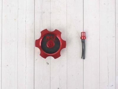 Крышка топливного бака алюминиевая d-48,5 мм красная фото 7