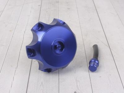 Крышка топливного бака алюминиевая d-48,5 мм синяя фото 1