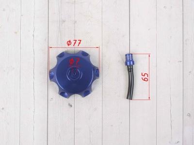 Крышка топливного бака алюминиевая d-48,5 мм синяя фото 3