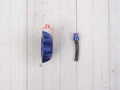 Крышка топливного бака алюминиевая d-48,5 мм синяя фото 5