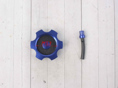 Крышка топливного бака алюминиевая d-48,5 мм синяя фото 7