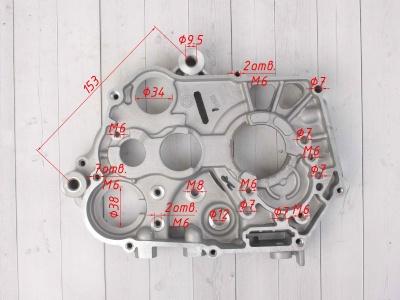 Картер двигателя правый KAYO двиг. YX140 см3 фото 3