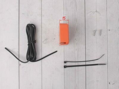 Счетчик моточасов с тахометром оранжевый фото 5