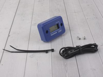 Счетчик моточасов с тахометром синий фото 1