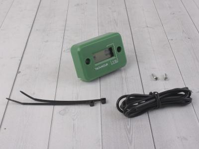 Счетчик моточасов с тахометром зеленый фото 1