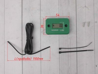 Счетчик моточасов с тахометром зеленый фото 3