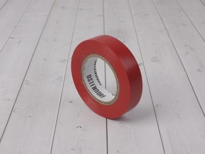 Изолента OSTENDORF 15мм*20м красная фото 1