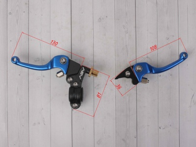 Рычаги сцепления и тормоза ASV replica синие короткие фото 3