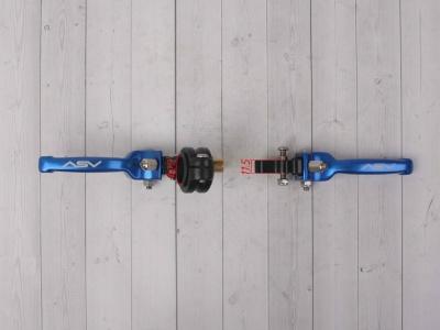 Рычаги сцепления и тормоза ASV replica синие короткие фото 5