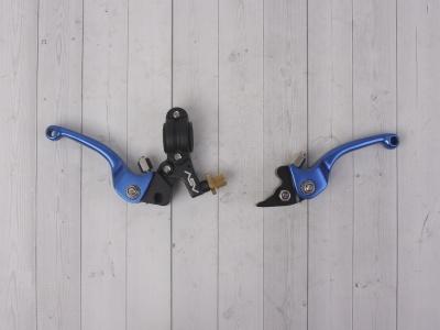 Рычаги сцепления и тормоза ASV replica синие короткие фото 7