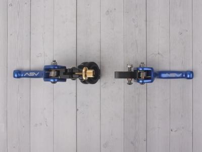 Рычаги сцепления и тормоза ASV replica синие короткие фото 9
