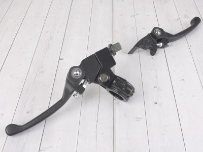 Рычаги сцепления и тормоза откидные  Е1 черные фото 1