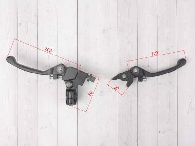 Рычаги сцепления и тормоза откидные  Е1 черные фото 3