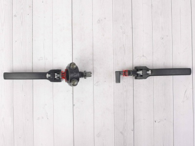 Рычаги сцепления и тормоза откидные  Е1 черные фото 5