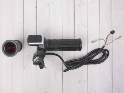 Ручка газа для электробайка c грипсами 36v с ключом фото 5