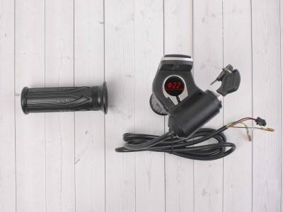 Ручка газа для электробайка c грипсами 36v с ключом фото 7