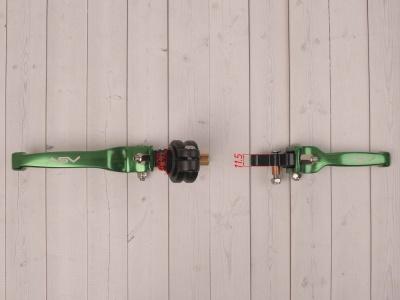 Рычаги сцепления и тормоза ASV replica зеленые длинные фото 5
